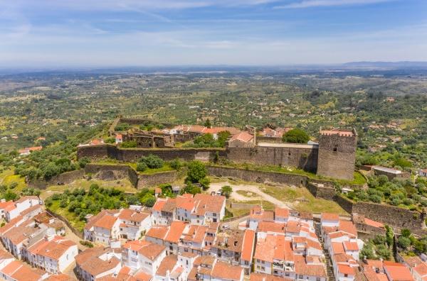 aerial view of castelo de vide