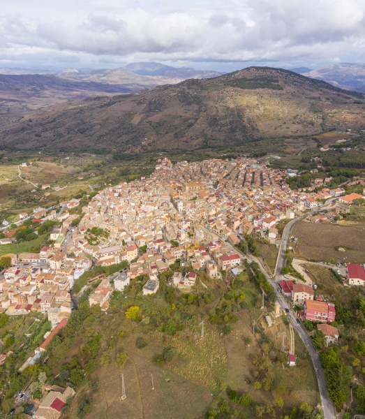 aerial view of the picturesque town