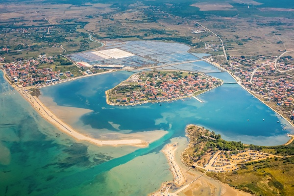 aerial view of of the town