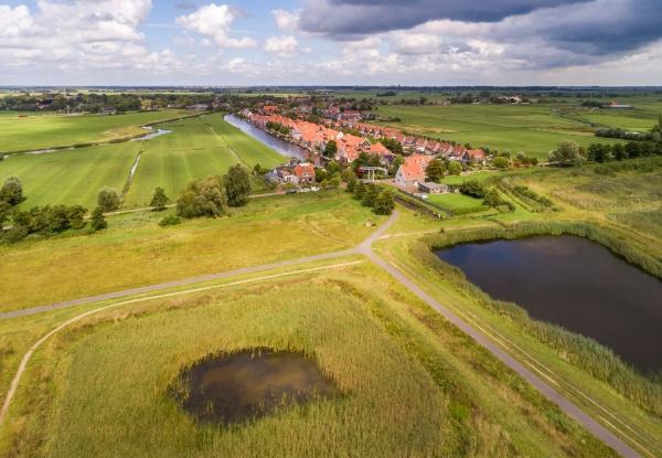 aerial view of village broek in