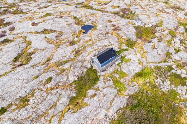 aerial view of a single house