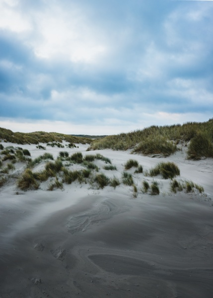 aerial view of dunes on the