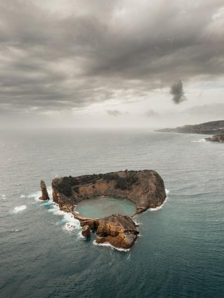 aerial view of islet of vila