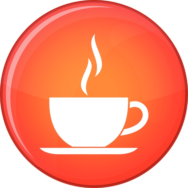 cup of hot drink icon flat