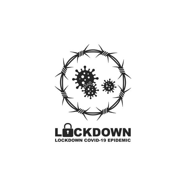 covid 19 corona virus lockdown vector