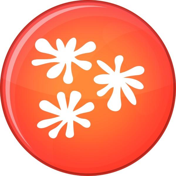 paintball blob icon flat style