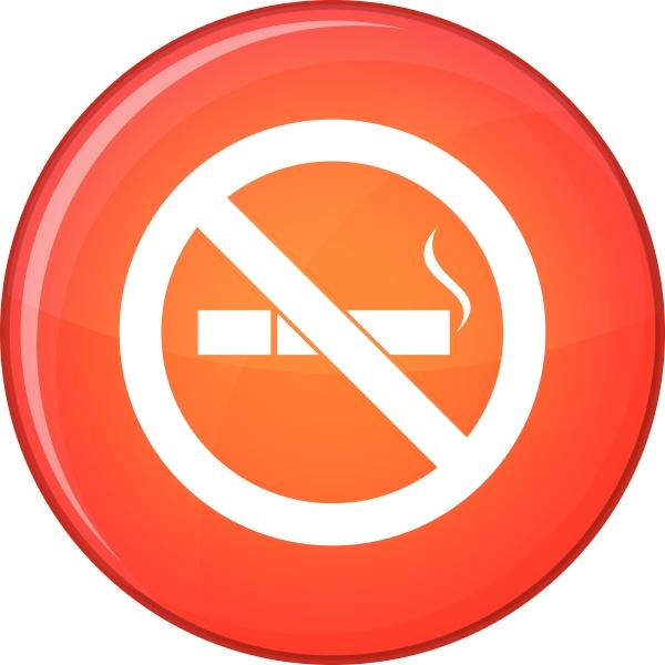 no smoking sign icon flat style