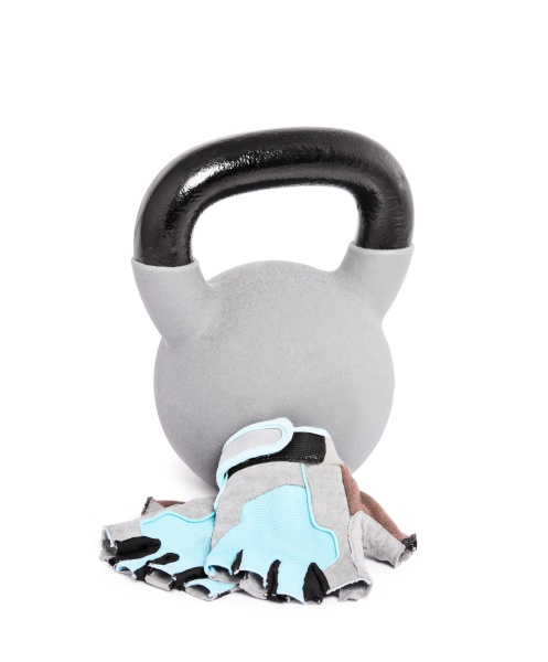 kettlebell and weightlifting workout gloves