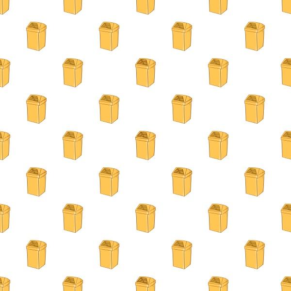yellow trash pattern cartoon style