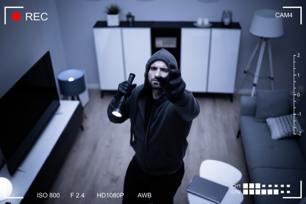 inside house robber or thief intruder