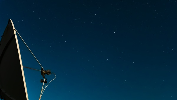 the night starry sky against of
