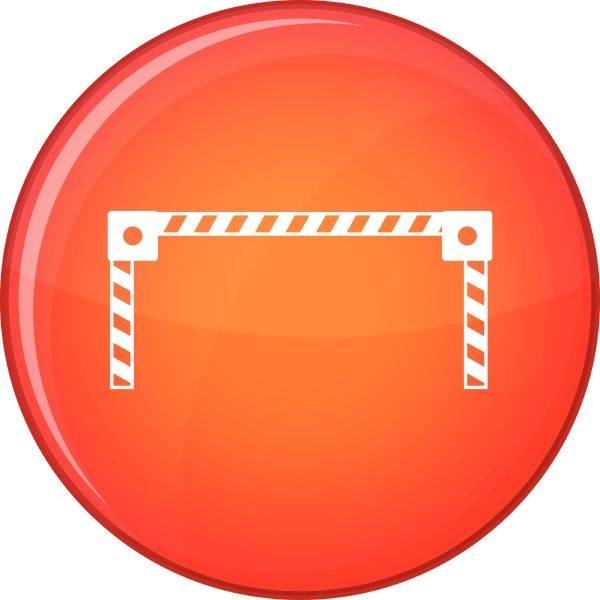 barrier icon flat style