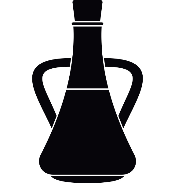 bottle with olive oil icon simple
