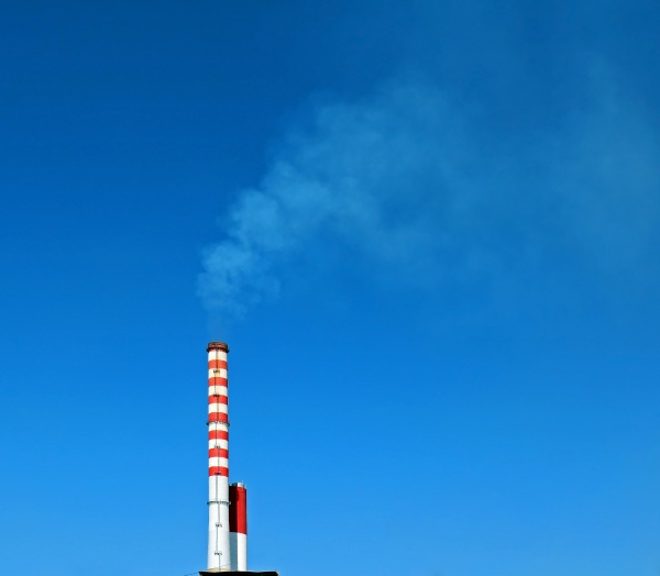 smoke from industry chimney