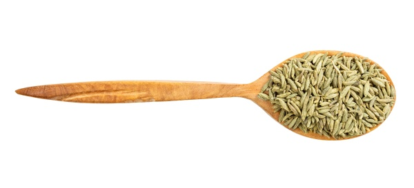 top view of wood spoon with