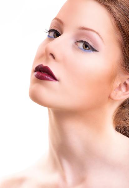 beautiful female model with classic make