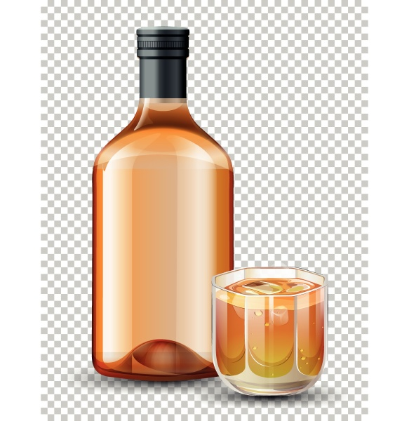 bottle and glass of whiskey