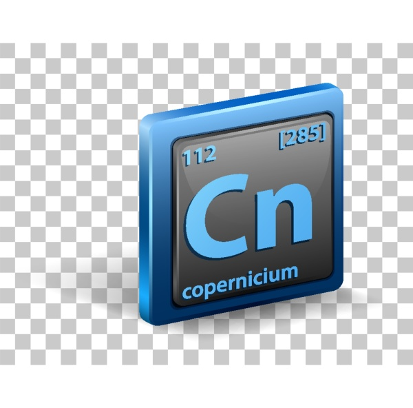copernicium chemical element chemical symbol with