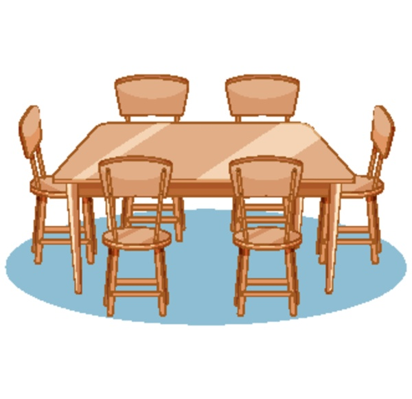 a set of dining table and