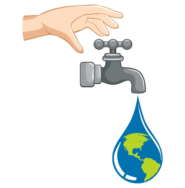 save water concept with water dropping