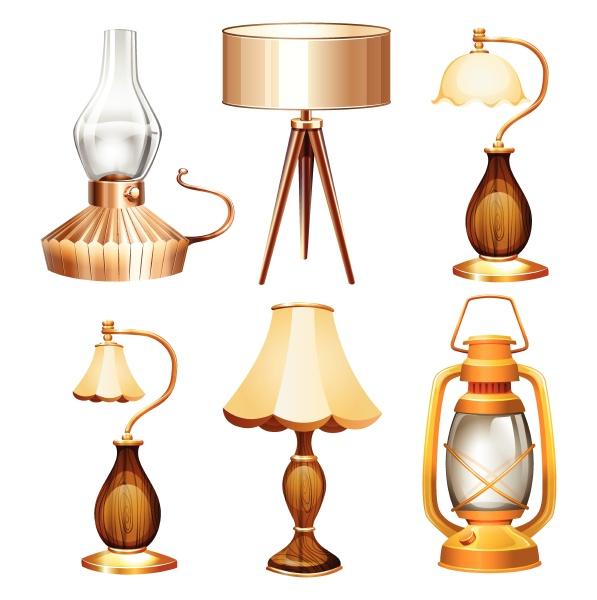 vintage design of lamps