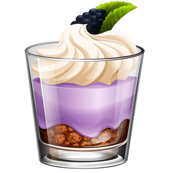 rasberry dessert in glass
