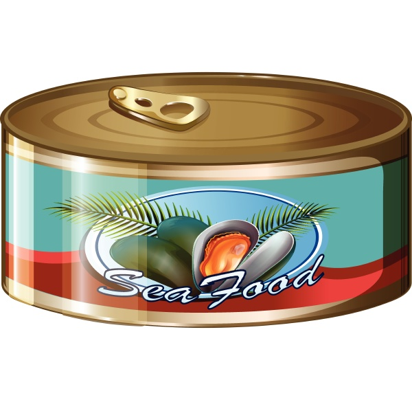 seafood in aluminum can