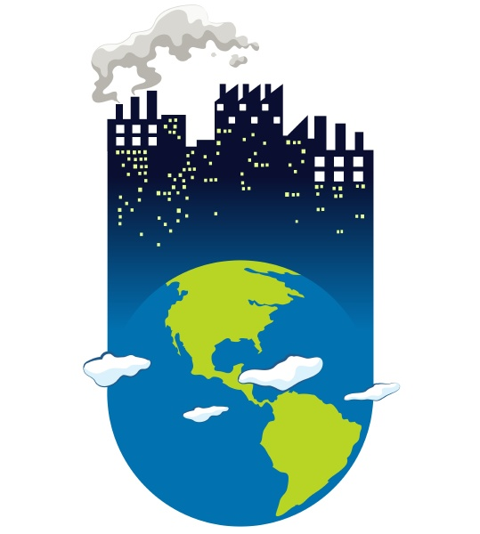 save the world sign with earth