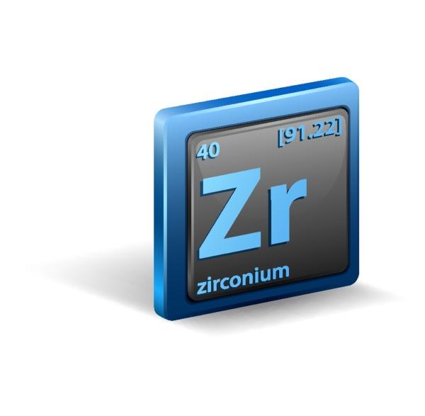 zirconium chemical element chemical symbol with