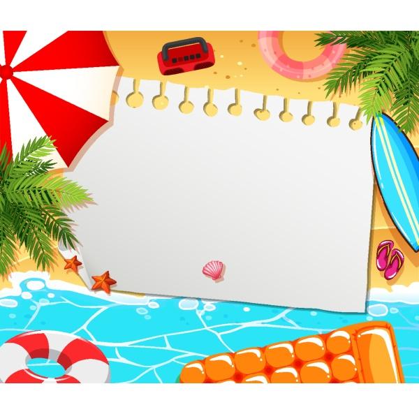 blank paper not template summer theme