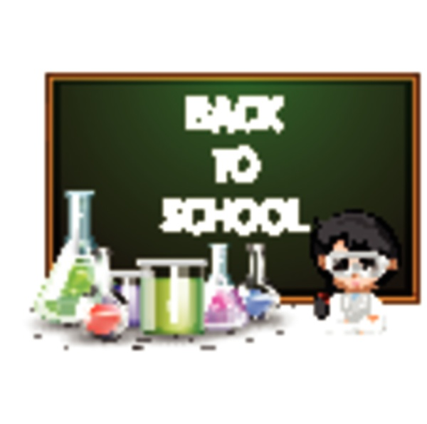 back to school sign with girl