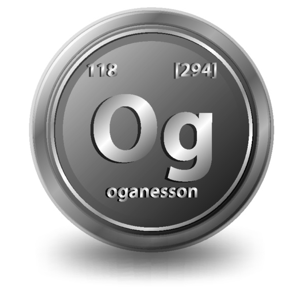oganesson chemical element chemical symbol with