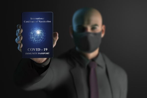 businessman in face mask with covid