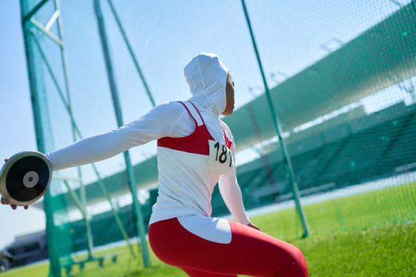 female track and field athlete in