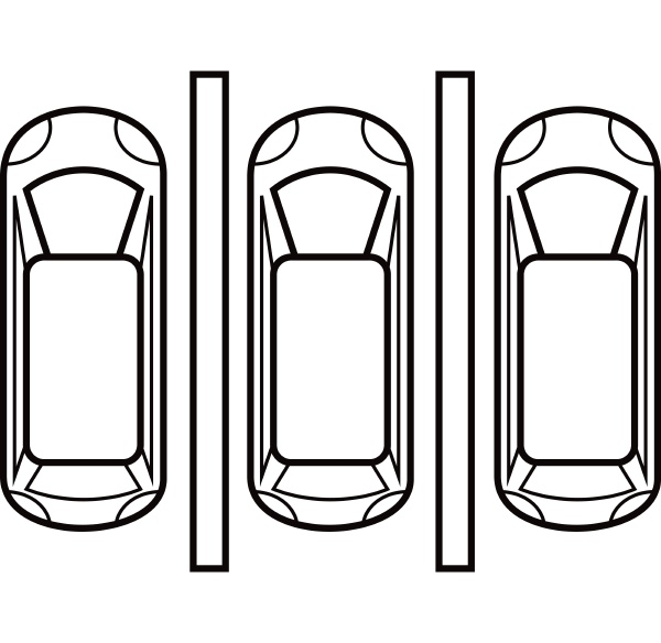 parking plan icon outline style