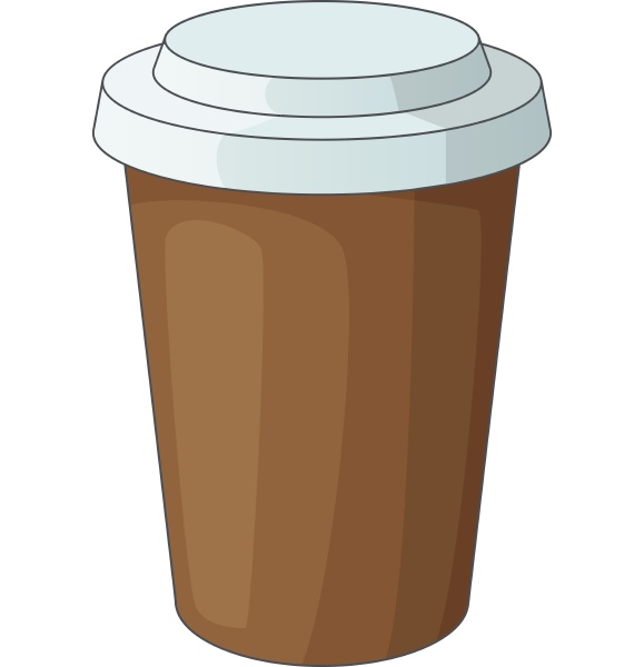 paper cup of coffee icon cartoon