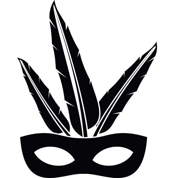 carnival mask icon simple style