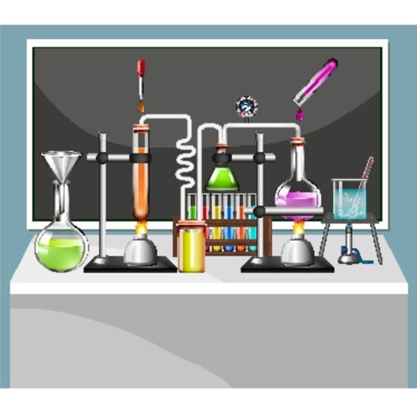 set of science equipments in school