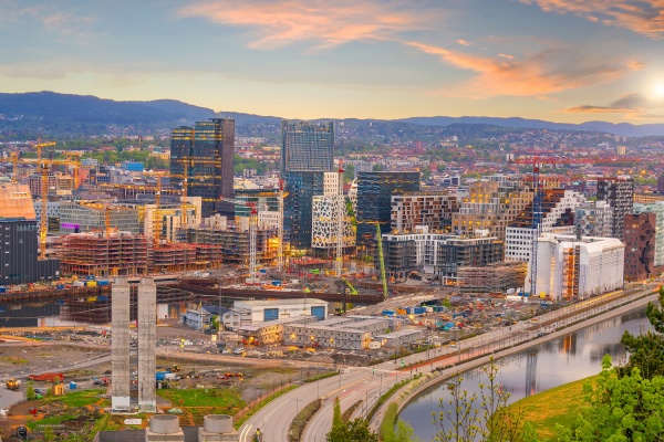 oslo downtown city skyline cityscape in