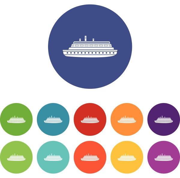 long ship set icons