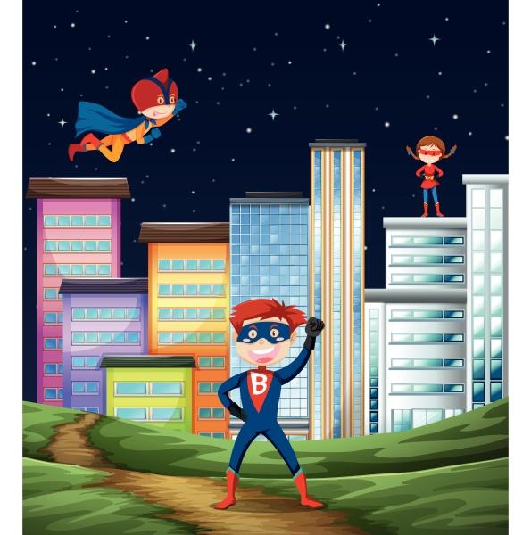 kid super hero scene