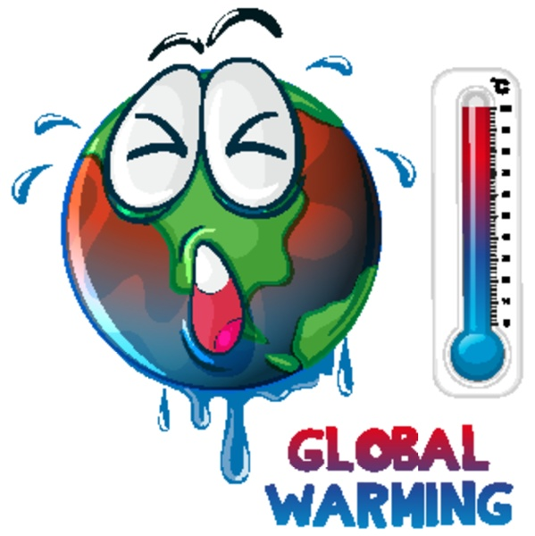 global warming with earth overheated