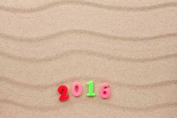 new year 2016 written in the