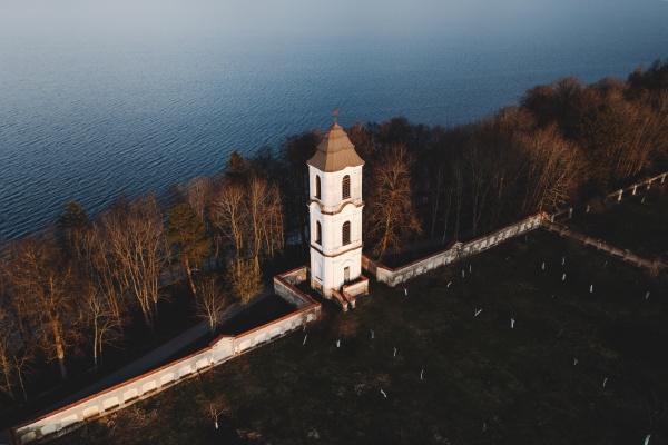 aerial view of pazaislio vienuolynas a