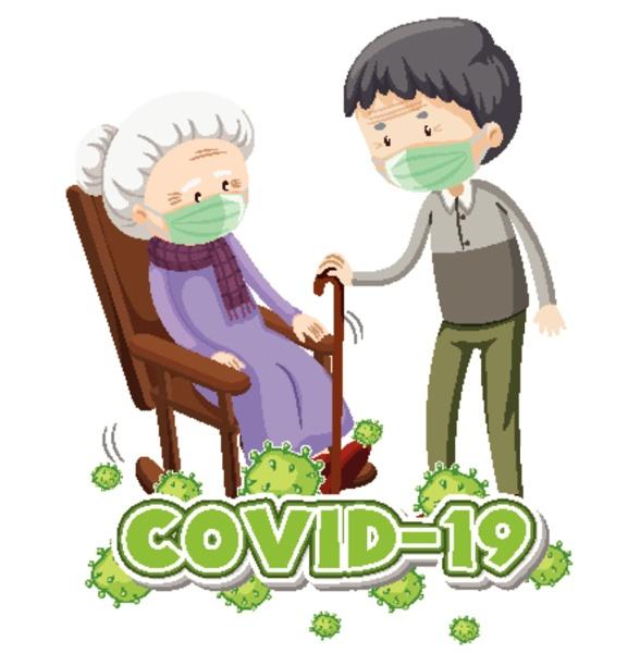 poster design for coronavirus theme with
