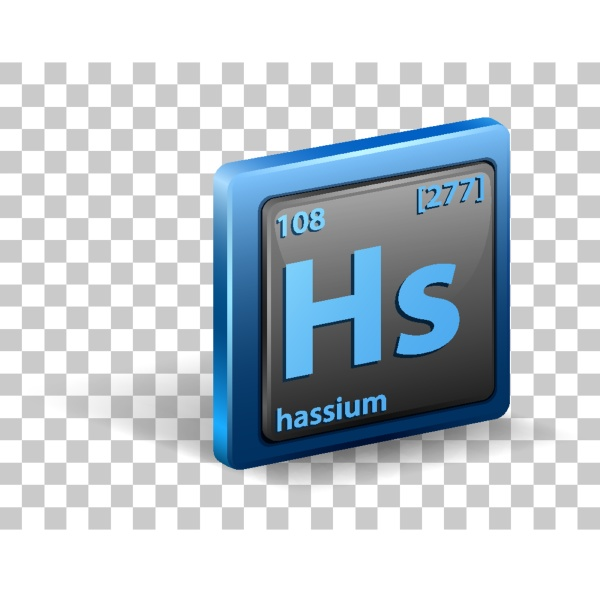 hassium chemical element chemical symbol with