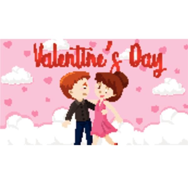 valentine theme with love couple