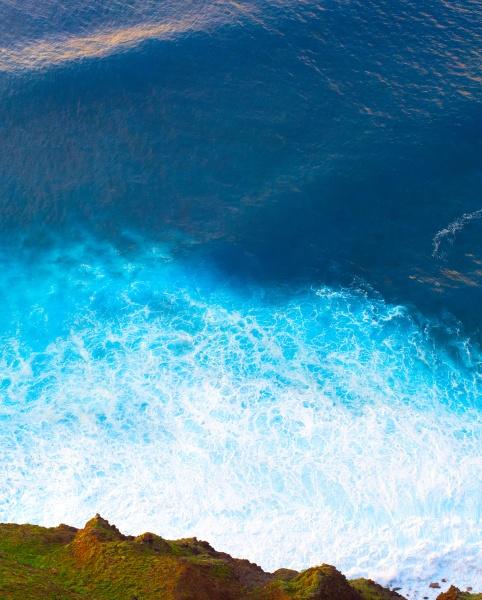 aerial view ocean sea background