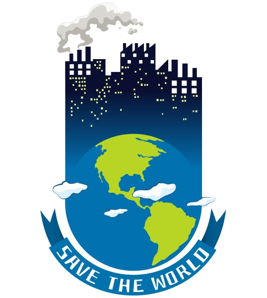 save the world theme with earth