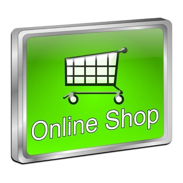 online shop button green